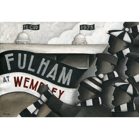 Fulham FC - Sing Fulham Sing Ltd Edition Signed Football Print by Paine Proffitt | BWSportsArt