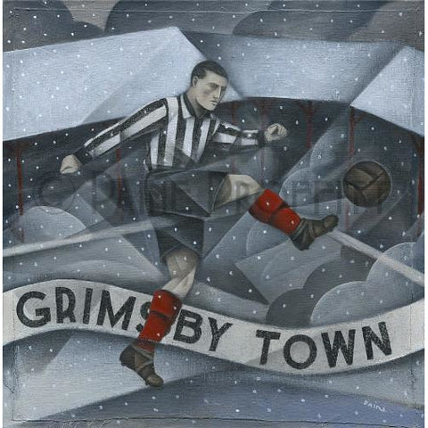 Grimsby Town Gift - Snow over Blundell Park Limited Edition Signed Football Print | BWSportsArt
