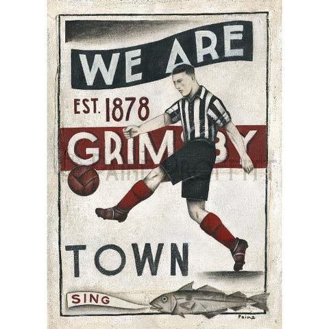 Grimsby Town - Town Ltd Edition Print by Paine Proffitt - BWSportsArt
