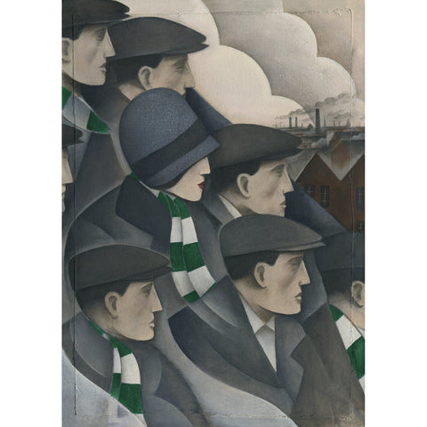 Hibernian The Crowd Ltd Edition Print by Paine Proffitt - BWSportsArt