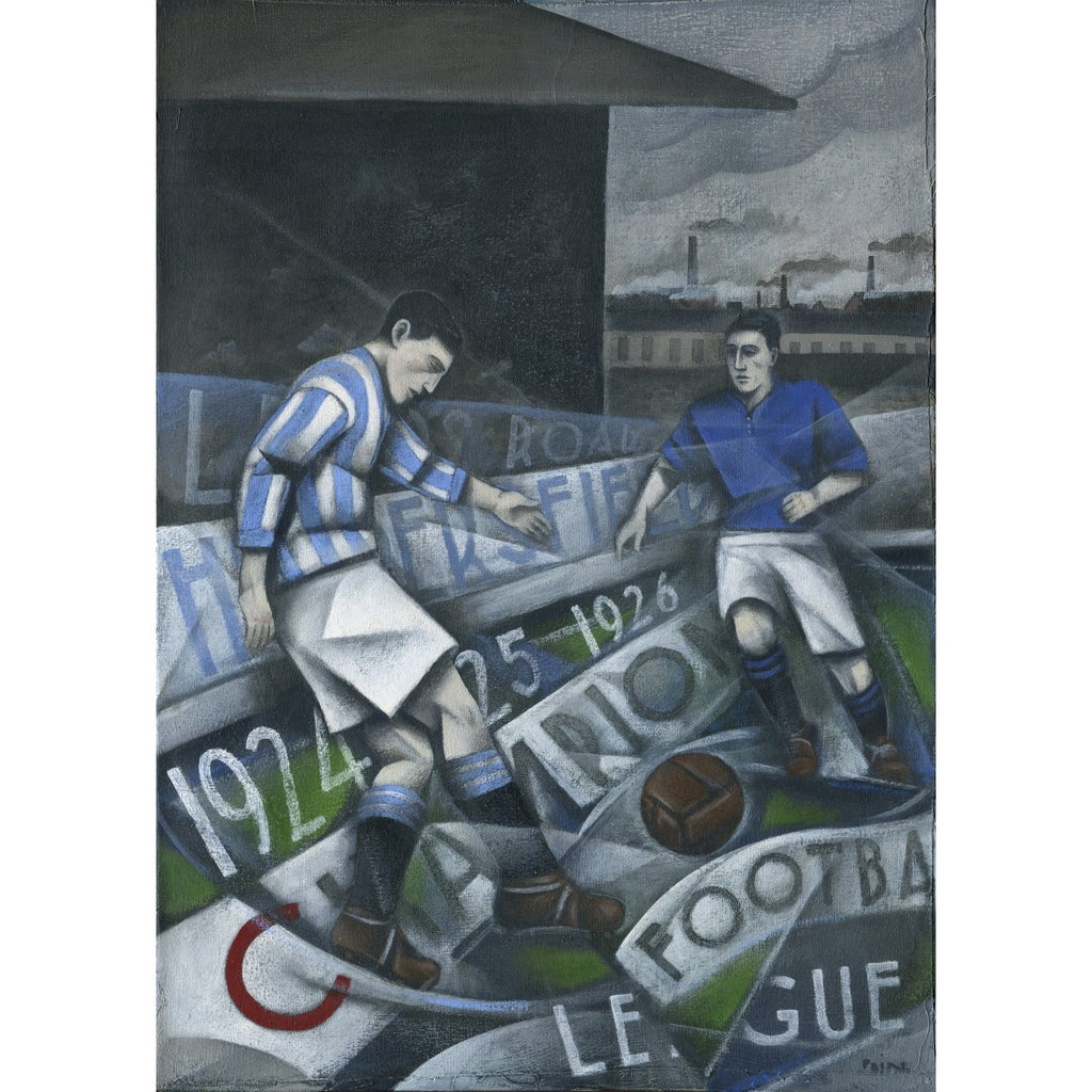 Huddersfield Town - Huddersfield Town Champions - Limited Edition Print by Paine Proffitt | BWSportsArt