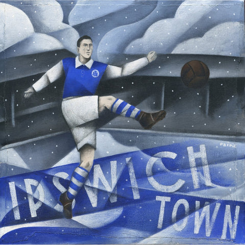 Ipswich - Ipswich Town Limited Edition Print by Paine Proffitt - BWSportsArt