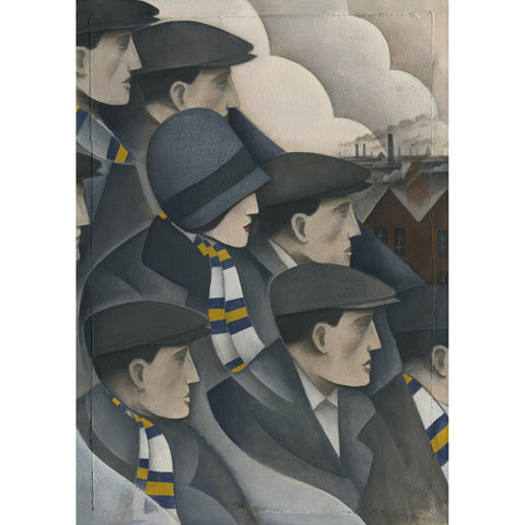 Leeds The Crowd Ltd Edition Print by Paine Proffitt - BWSportsArt