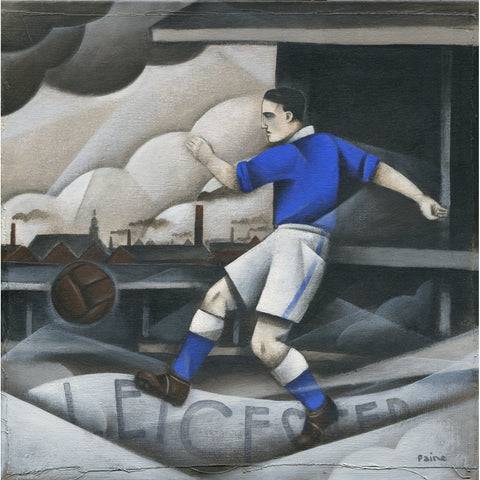 Leicester City FC - Leicester City Limited Edition Print by Paine Proffitt - BWSportsArt