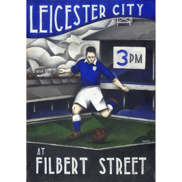 Leicester City - Leicester City At Filbert Street Limited Edition Print by Paine Proffitt - BWSportsArt