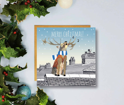 Huddersfield Town Gift Merry Christmas Cards by Flying Teaspoons