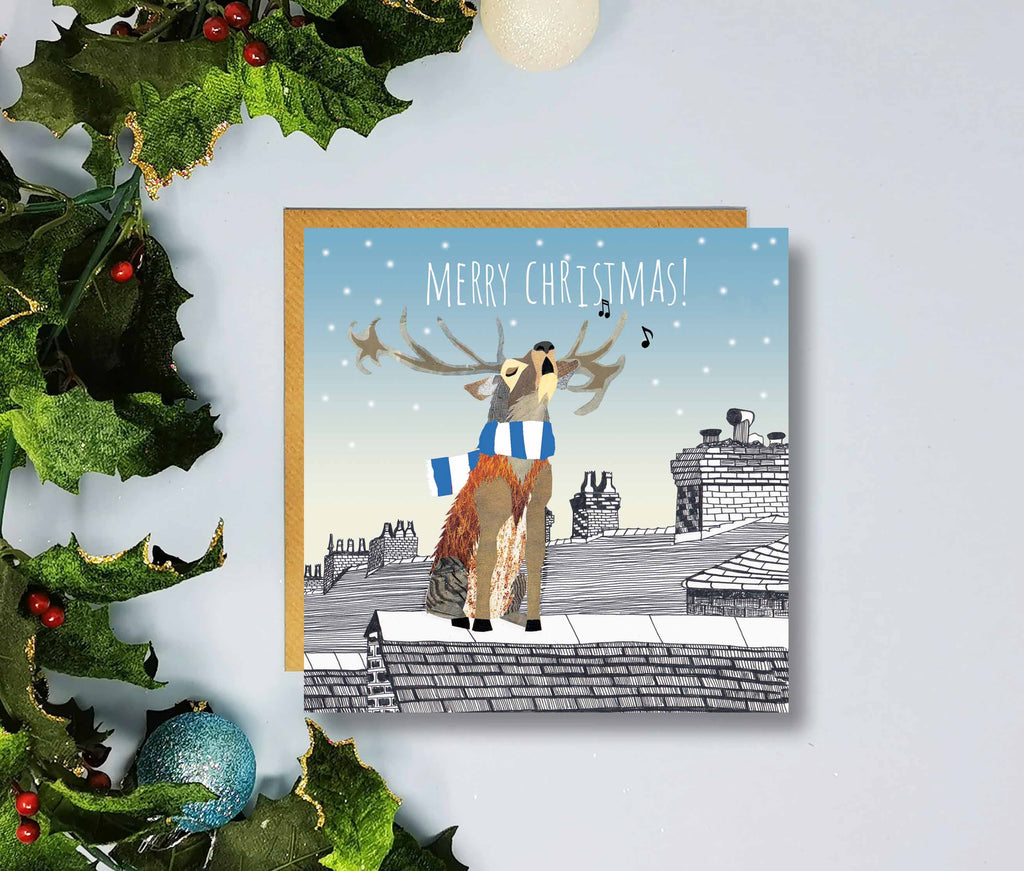 Manchester City Merry Christmas Cards by Flying Teaspoons