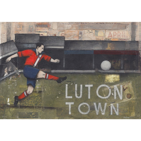 Luton Town FC - Luton Town - Kenilworth Road Ltd Edition Print by Paine Proffitt - BWSportsArt