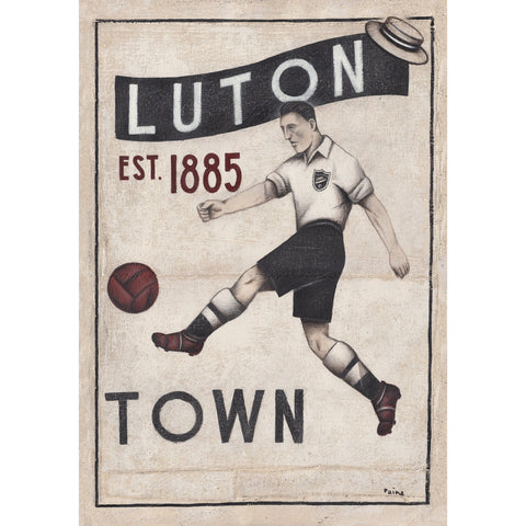 Luton Town FC - Luton Town Ltd Edition Print by Paine Proffitt - BWSportsArt