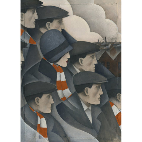 Luton Town The Crowd Ltd Edition Print by Paine Proffitt - BWSportsArt