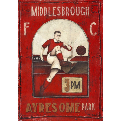 Middlesbrough - Ayresome Park Limited Edition Print by Paine Proffitt | BWSportsArt