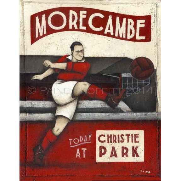 Morecambe Football Gift - At Christie Park Ltd Ed Signed Football Print - BWSportsArt