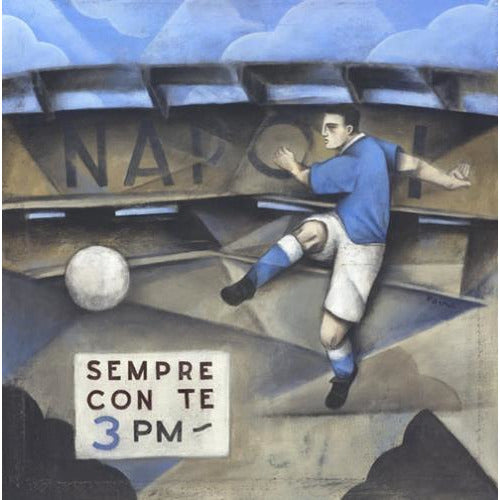 Italian Football Gift - Napoli Sempre Con Te Limited Edition Print by Paine Proffitt | BWSportsArt