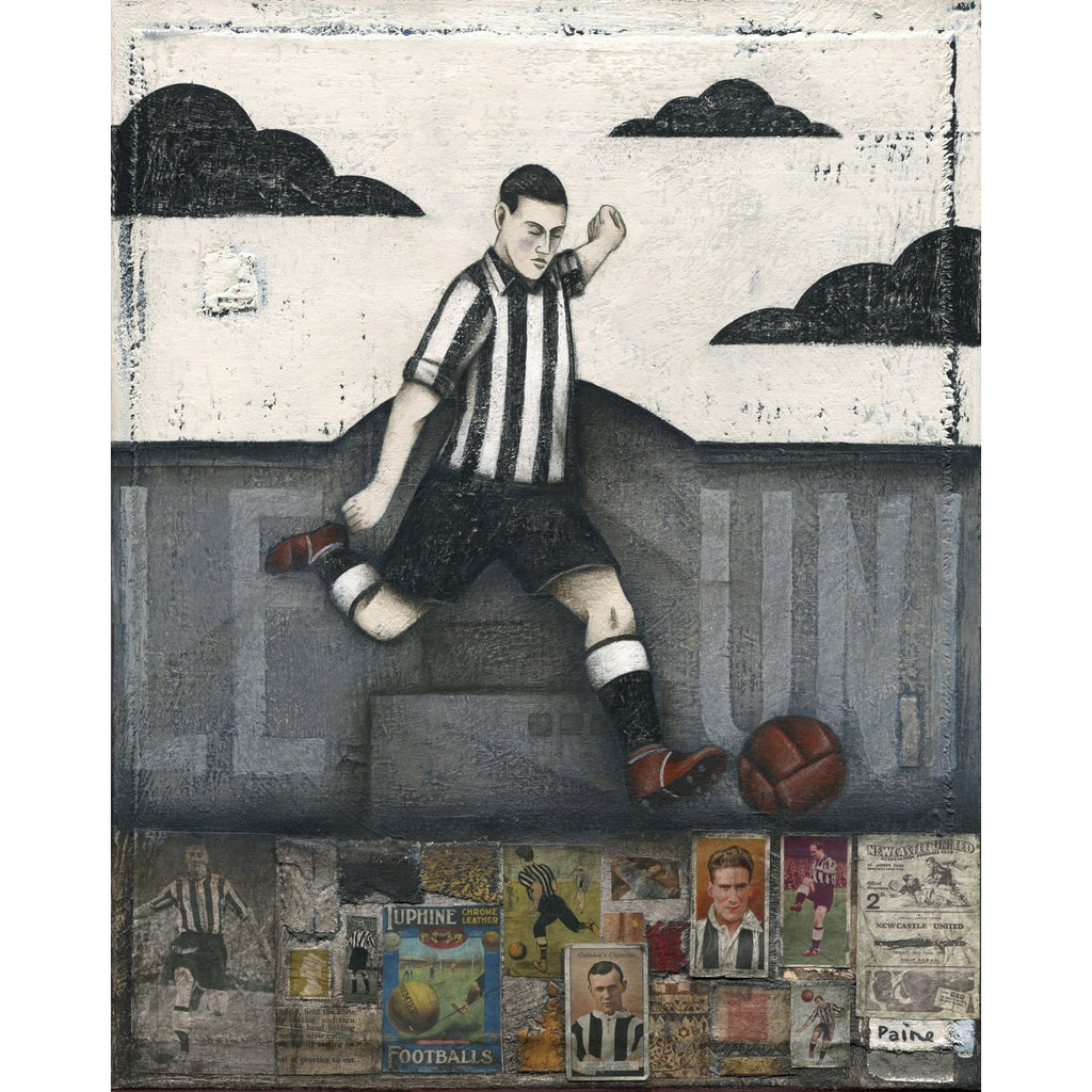Newcastle United Football Gift - Newcastle Skies ltd ed signed football print | BWSportsArt