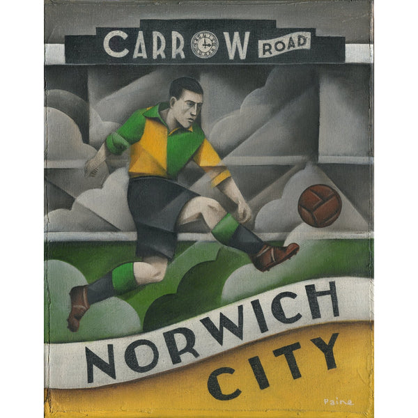Norwich City FC - Carrow Road Norwich City Ltd Edition Print by Paine Proffitt - BWSportsArt