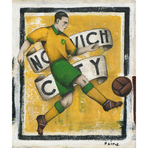Norwich City FC - Norwich City Ltd Edition Print by Paine Proffitt - BWSportsArt