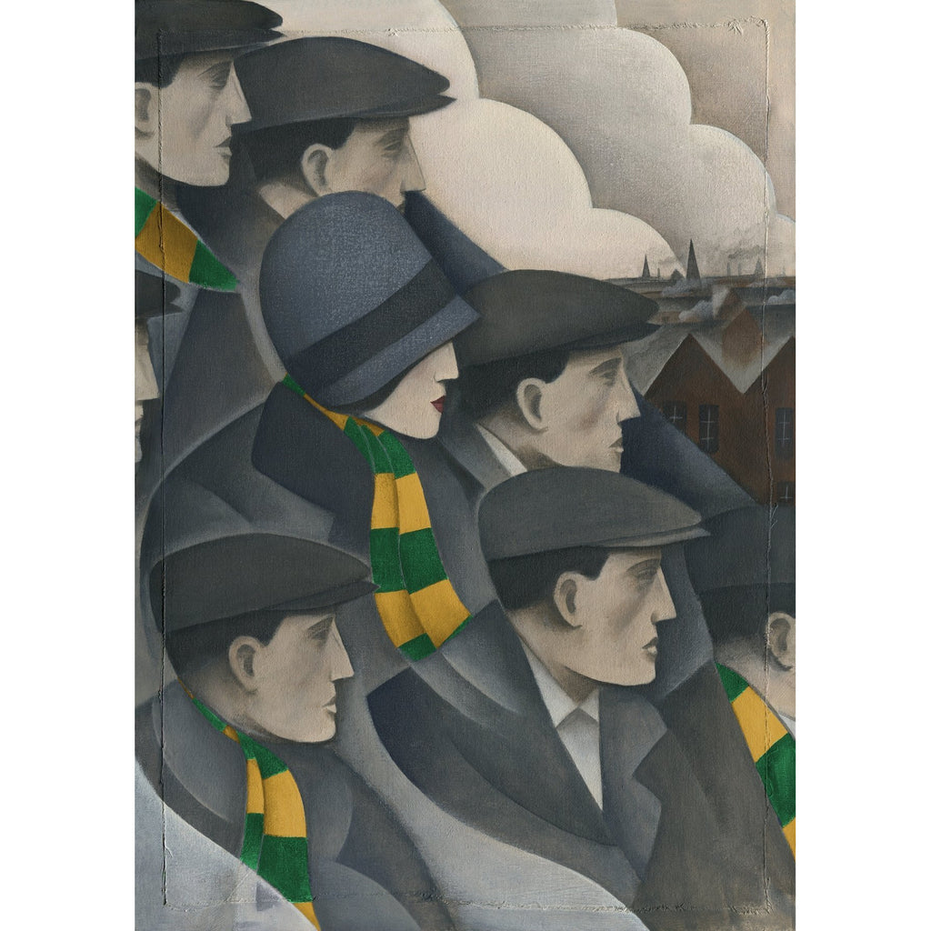 Norwich City The Crowd Ltd Edition Print by Paine Proffitt | BWSportsArt