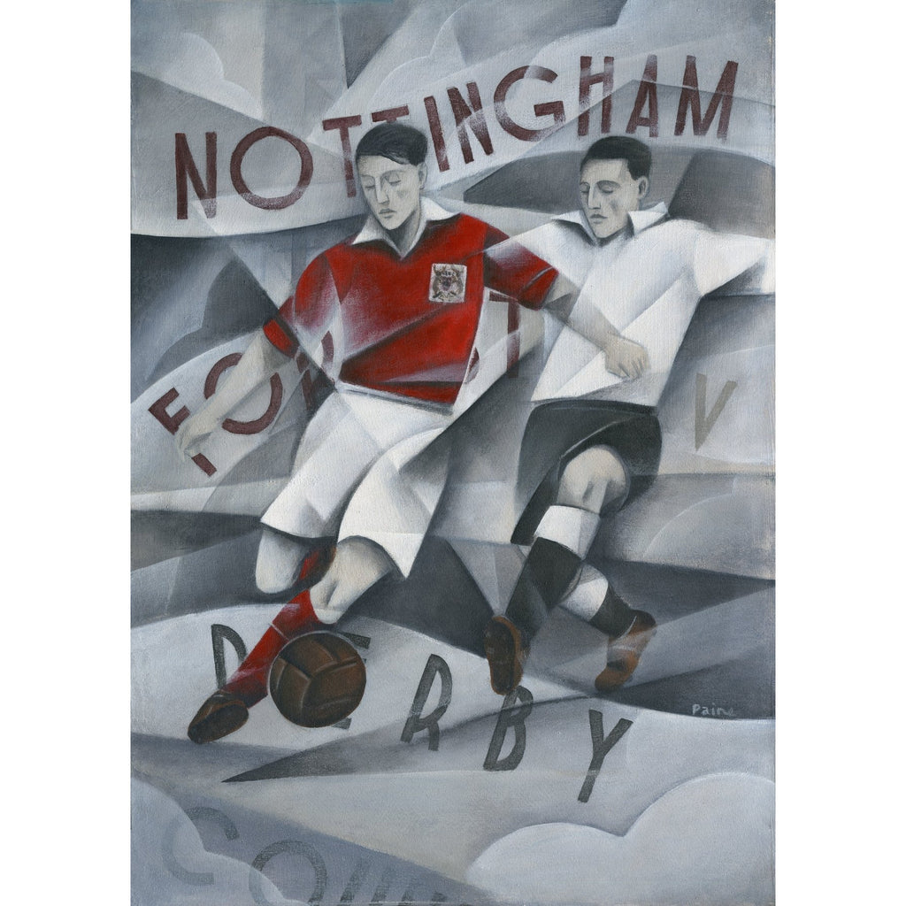 Nottingham Forest V Derby Ltd Edition Print by Paine Proffitt | BWSportsArt