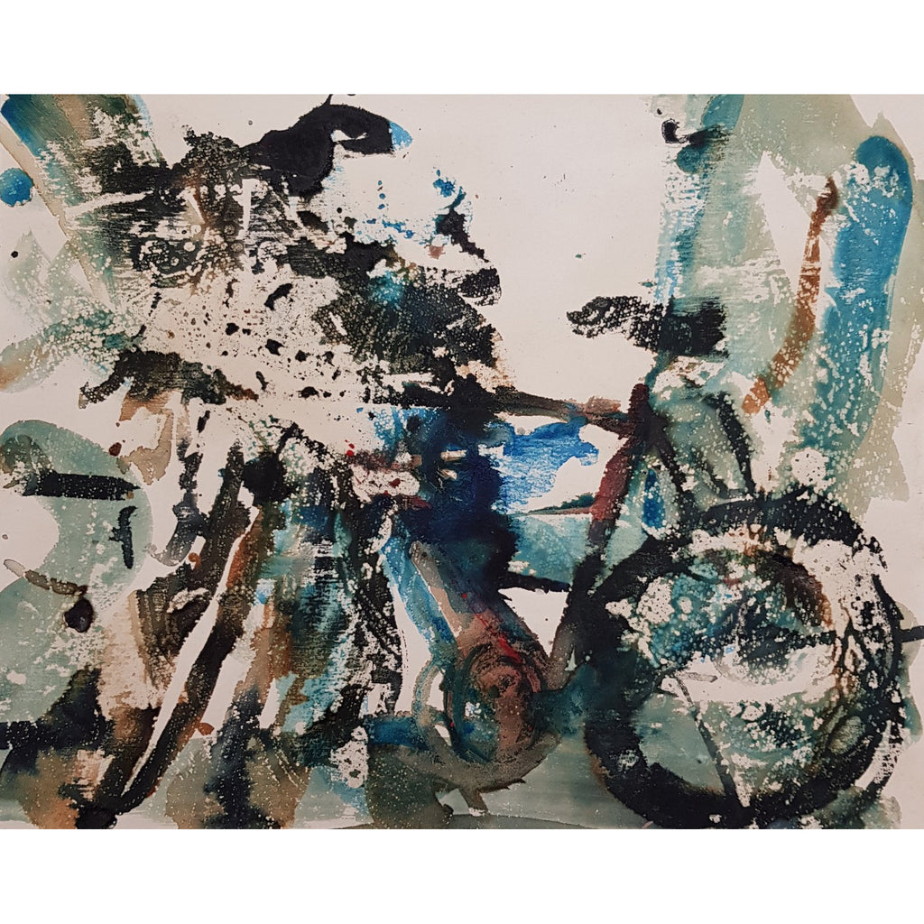Old Road Bike 2 Original Art by Georgia Wild - BWSportsArt