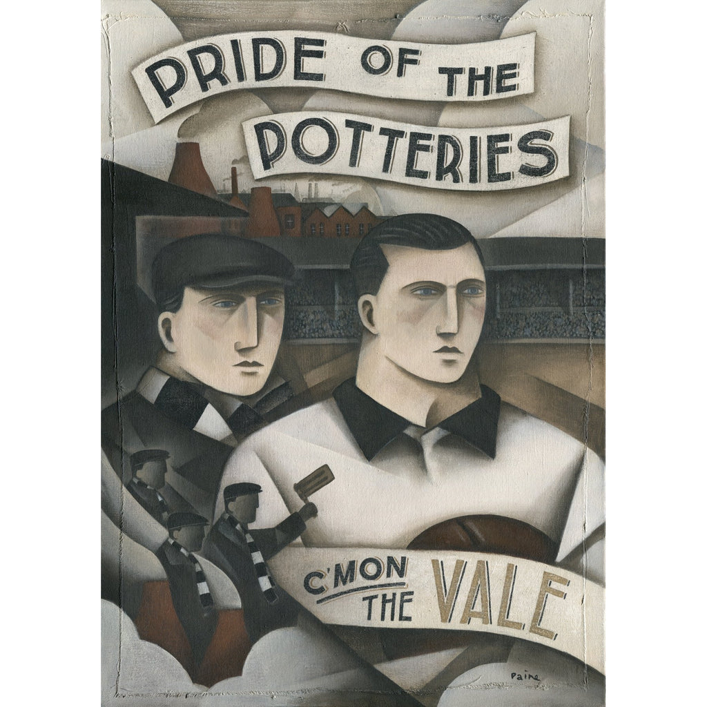 Port Vale Gift - Heros and Bottle Kilns Ltd Edition Signed Football Print by Paine Proffitt - BWSportsArt