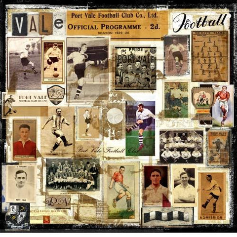 Port Vale Gift - Port Vale Memories Ltd Edition Port Vale Football Print - BWSportsArt