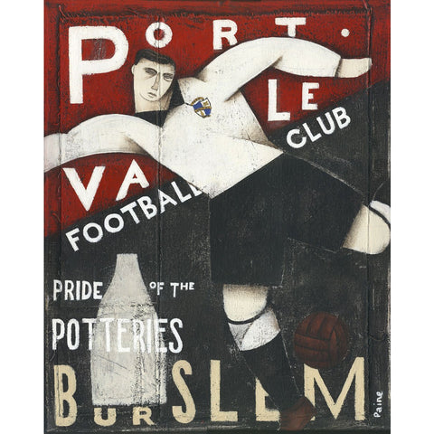 Port Vale Gift - Port Vale Pride of Burslem Limited signed Football Print - BWSportsArt