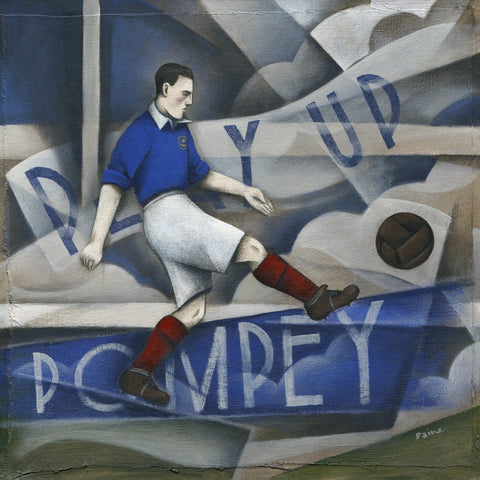 Portsmouth - Play Up Pompey Limited Edition Print by Paine Proffitt - BWSportsArt
