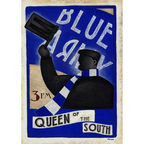 Queen Of The South Blue Army Ltd Edition Print by Paine Proffitt - BWSportsArt