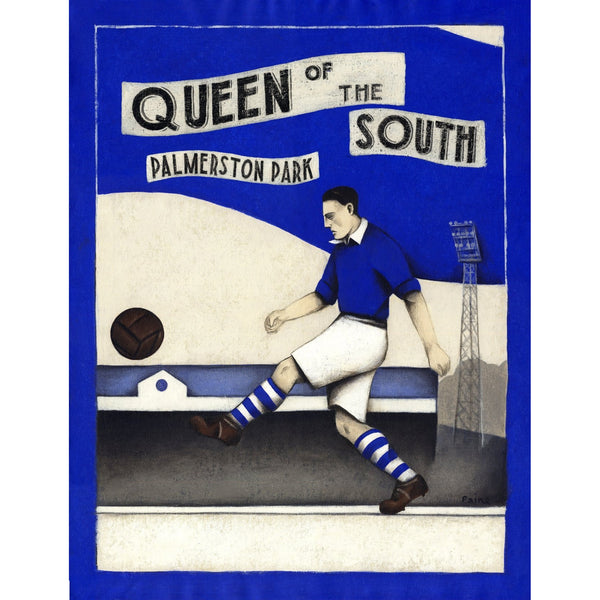 Queen Of The South Gift - Clock End Ltd Edition Signed Football Print - BWSportsArt