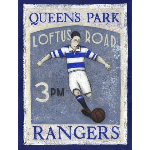 Queens Park Rangers FC Loftus Road Limited Edition Print by Paine Proffitt - BWSportsArt