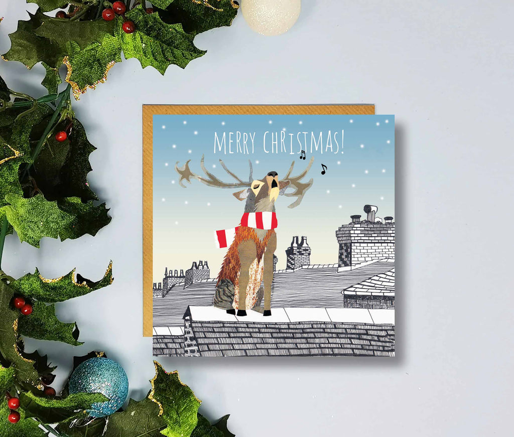 Lincoln City Merry Christmas Cards by Flying Teaspoons