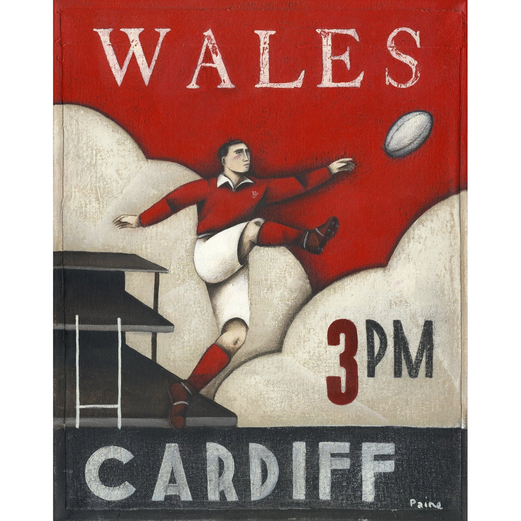 Rugby Gift - Wales Cardiff 3pm Ltd Edition Print by Paine Proffitt | BWSportsArt