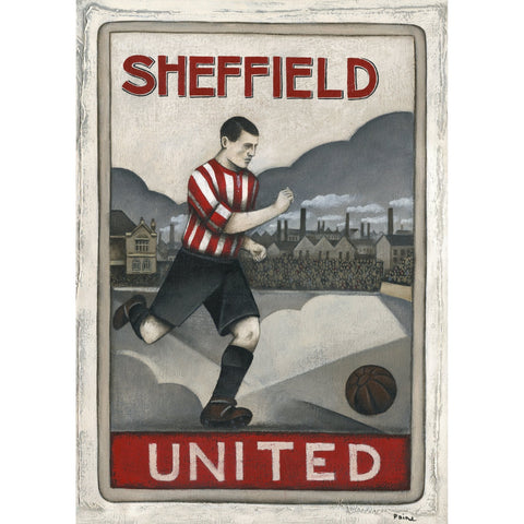 Sheffield United FC - Sheffield United Limited Edition Print by Paine Proffitt - BWSportsArt
