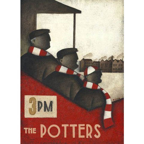 Stoke City Gift - Pottery Dust in Our Family Blood Limited Edition Football Print by Paine Proffitt - BWSportsArt