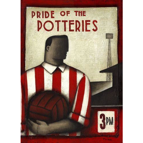 Stoke City Gift - Pride of Stoke City Limited Football Edition Print by Paine Proffitt - BWSportsArt