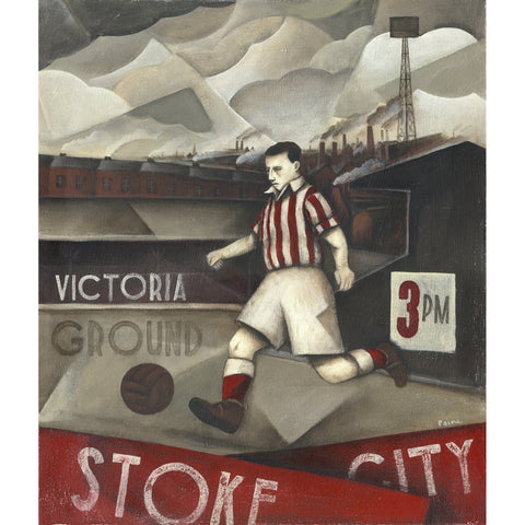 Stoke City Gift - Stoke - Glory Days At The Victoria Limited Football Edition Print by Paine Proffitt - BWSportsArt