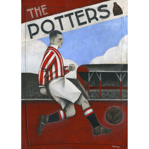 Stoke City Gift - The Potters Ltd Edition Football Print by Paine Proffitt - BWSportsArt