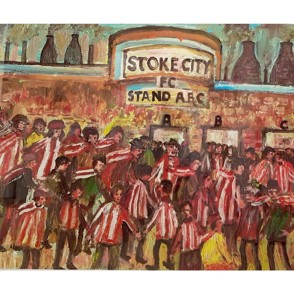 Stoke City Gift - To The Match Signed Ltd Edition Football Print by Derek Higginson - BWSportsArt