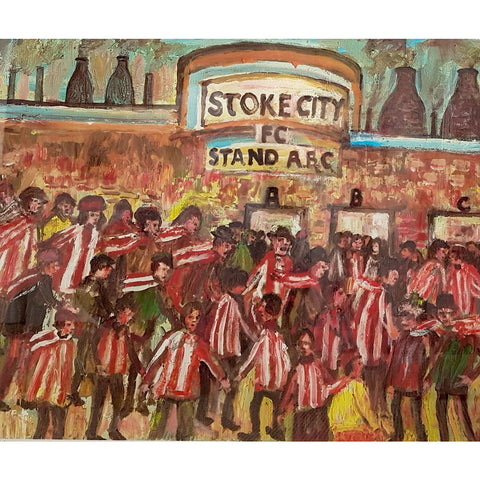 Stoke City Gift - To The Match Signed Ltd Edition Football Print by Derek Higginson | BWSportsArt