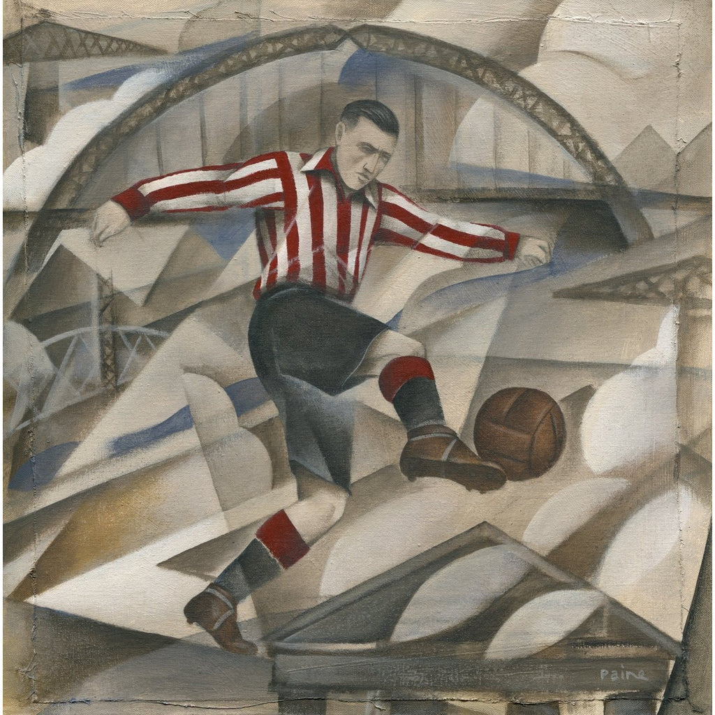Sunderland Gift - Sunderland Years Limited Edition Football Print by Paine Proffitt - BWSportsArt