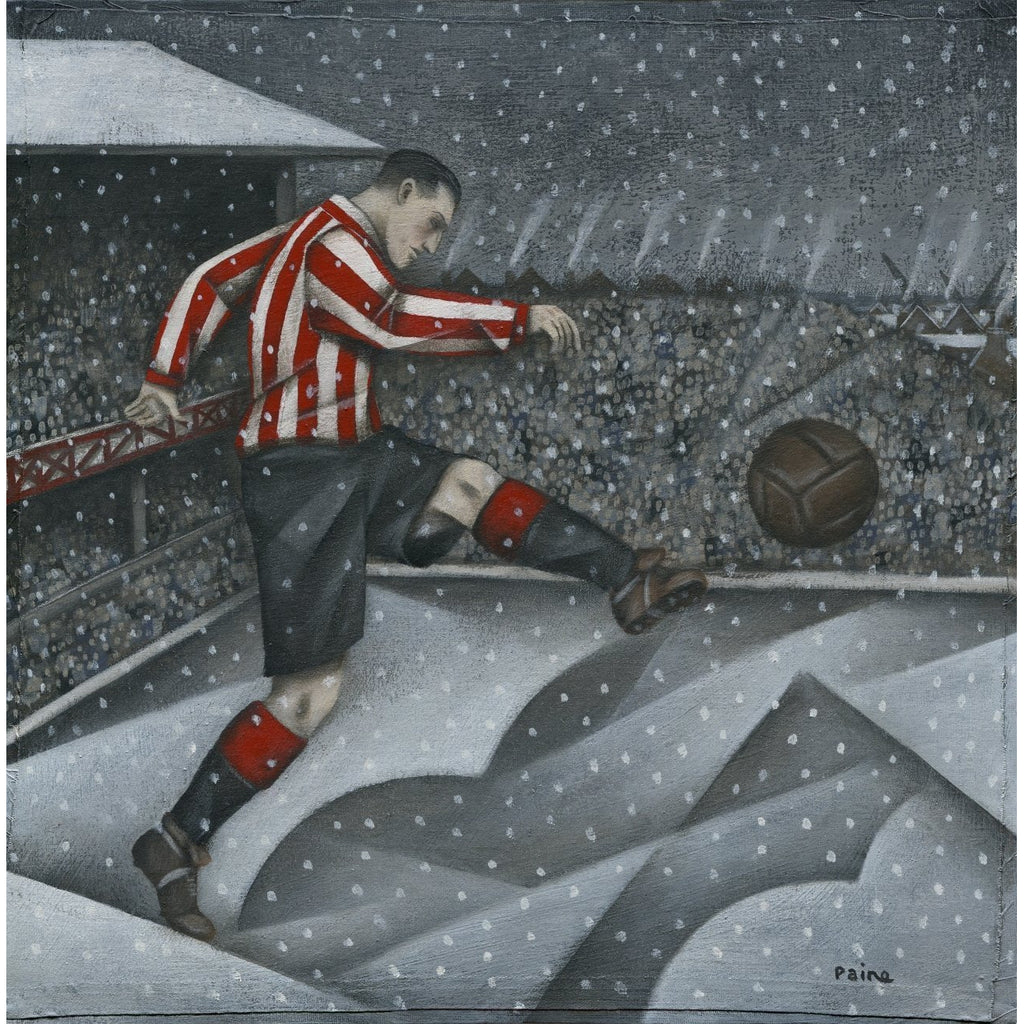 Sunderland Football Gift - Snow over Sunderland Limited Edition Signed Football Print - BWSportsArt