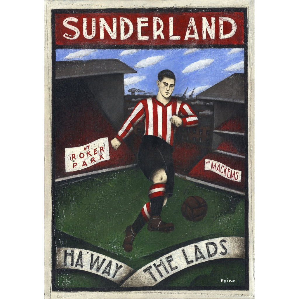 Sunderland Gift - Haway The Lads Ltd Edition Signed Football Print | BWSportsArt