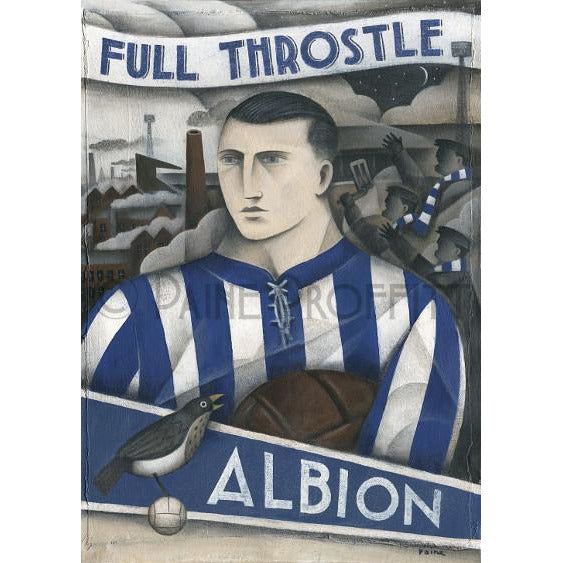West Brom Gift - Early Days At The Hawthorns Limited Edition Football Print by Paine Proffitt - BWSportsArt