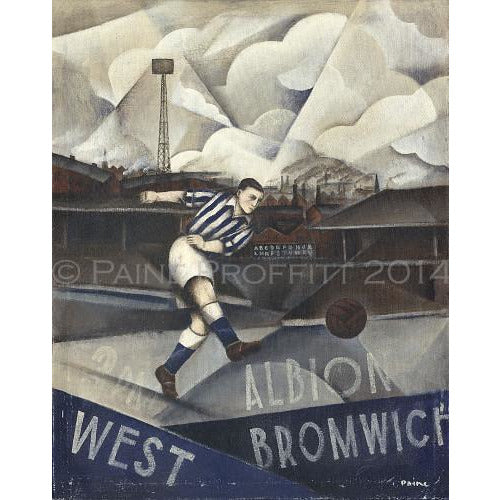 West Brom Gift - Glory Days At The Hawthorns Artist Proof Signed Football Print by Paine Proffitt - BWSportsArt