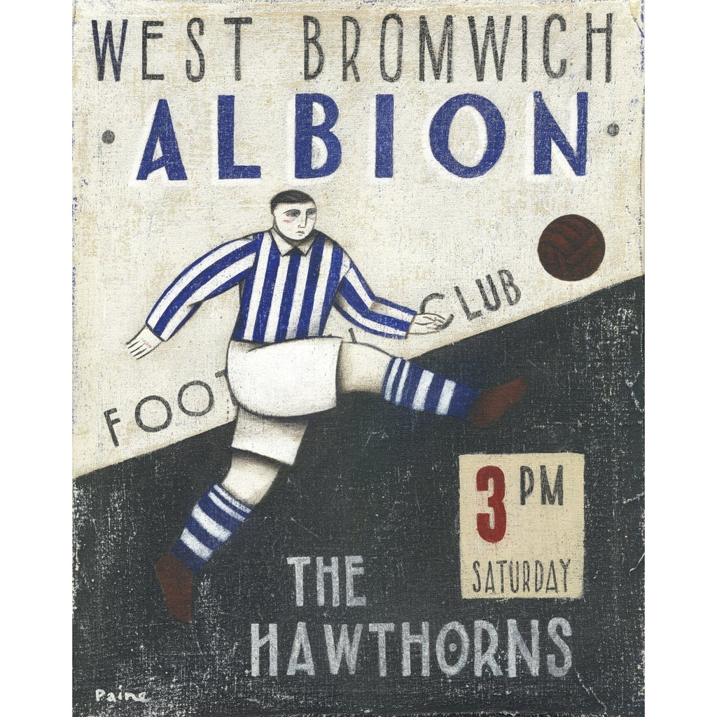 West Bromwich Albion Gift - West Bromwich Albion Ltd Edition Football Print by Paine Proffitt | BWSportsArt