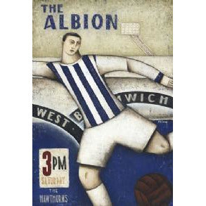 West Bromwich Albion Gift - West Brom Art Deco Ltd Edition Football Print by Paine Proffitt - BWSportsArt