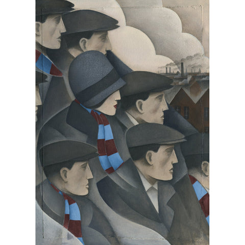West Ham Gift - The Crowd Limited Edition Football Print by Paine Proffitt | BWSportsArt
