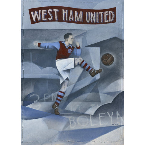 West Ham United Gift - Memories of The Boleyn Ltd Edition Signed Football Print | BWSportsArt