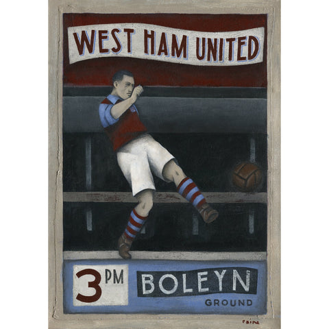 West Ham United Gift - West Ham 3pm Saturday Ltd Edition Signed Football Print - BWSportsArt