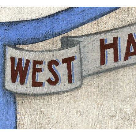 West Ham United Gift - West Ham Plaque Ltd Edition Signed Football Print - BWSportsArt